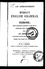 Cover of: An abridgement of Murray's English grammar and exercise