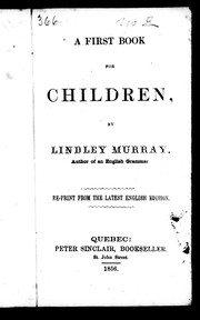 Cover of: A first book for children