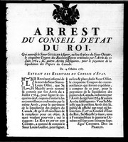 Cover of: Arrest du Conseil d'Etat du roy