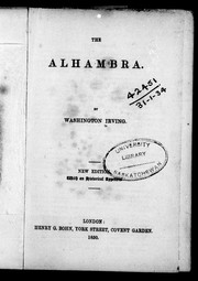 Cover of: The Alhambra | Washington Irving