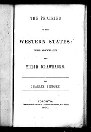 Cover of: The prairies of the Western states