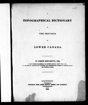 Cover of: A topographical dictionary of the province of Lower Canada
