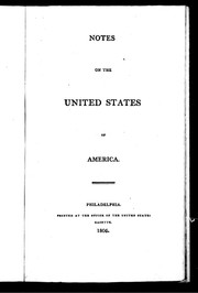 Cover of: Notes on the United States of America