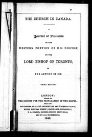 A journal of visitation to the western portion of his diocese, by the Lord Bishop of Toronto, in the autumn of 1842 by Strachan, John