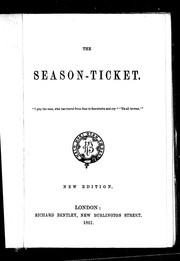 Cover of: The season-ticket