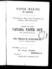 Paper-making in Canada