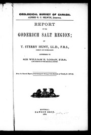 Report on the Goderich salt region by Thomas Sterry Hunt