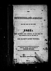 Cover of: The Newfoundland almanac, for the year of Our Lord 1851