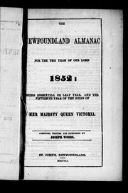 Cover of: The Newfoundland almanac, for the year of Our Lord 1852