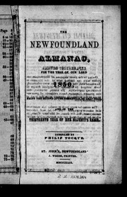 Cover of: The Newfoundland almanac, for the year of Our lord 1850