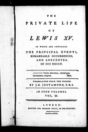 Cover of: The private life of Louis XV | Mouffle d