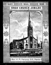 Cover of: Knox Church jubilee |