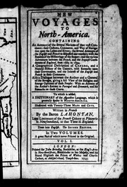 Cover of: New voyages to North-America