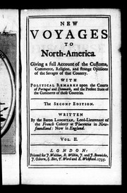 Cover of: New voyages to North America