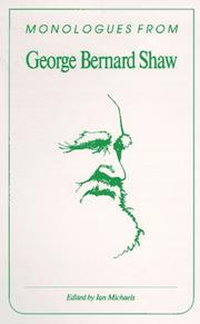 Cover of: Monologues from George Bernard Shaw