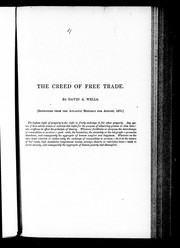Cover of: The creed of free trade