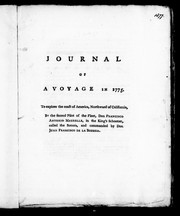 Cover of: Journal of a voyage in 1775 to explore the coast of America, northward of California