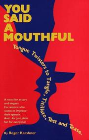 Cover of: You said a mouthful