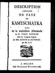 Description abrégée du pays de Kamtschatka by Stepan Krasheninnikov