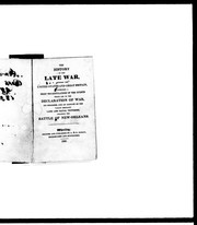 Cover of: The history of the late war between the United States and Great Britain
