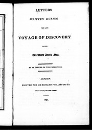 Cover of: Letters written during the late voyage of discovery in the western Arctic Sea