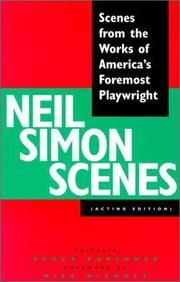 Cover of: Neil Simon scenes: scenes from the works of America's foremost playwright