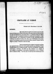 Cover of: Circulaire au clergé