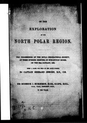 Cover of: On the exploration of the North Polar region