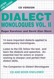 Cover of: Dialect Monologues: Volume II with CD (Audio)