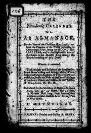 Cover of: The Nova-Scotia calendar, or, An almanack for the year of the Christian ñra, 1778