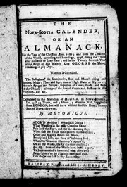 Cover of: The Nova-Scotia calender, or, An almanack, for the year of the Christian æra, 1787