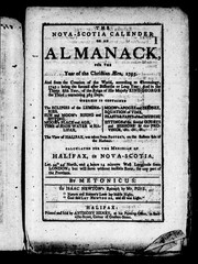 Cover of: The Nova-Scotia calender, or, An almanack, for the year of the Christian æra, 1795