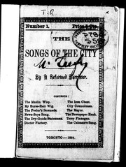 Cover of: The songs of the city | Reformed Barrister