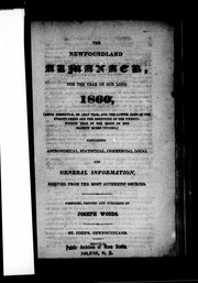 Cover of: The Newfoundland almanack for the year of Our Lord, 1860