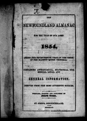 Cover of: The Newfoundland almanac for the year of Our Lord, 1854