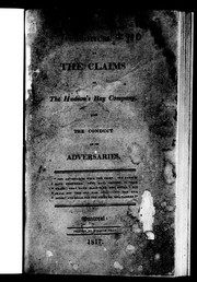 Cover of: Notices of the claims of the Hudson
