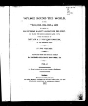 Cover of: Voyage round the world in the years 1803, 1804, 1805, & 1806
