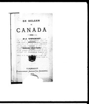 Cover of: De Belgen in Canada