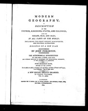 Cover of: Modern geography | Pinkerton, John
