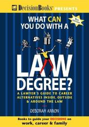 Cover of: What Can You Do With a Law Degree?