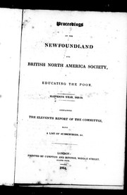 Cover of: Proceedings of the Newfoundland and British North America Society, Educating the Poor