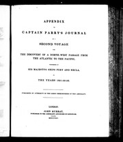 Cover of: Appendix to Captain Parry's journal of a second voyage