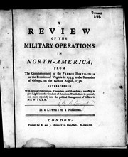 Cover of: A review of the military operations in North-America