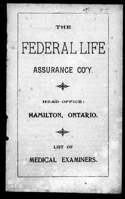 Cover of: List of medical examiners | Federal Life Assurance Company