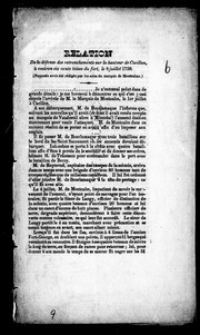 Cover of: Relation de la défense des retranchements sur la hauteur de Carillon, à environ six cents toises du fort, le 8 juillet 1758