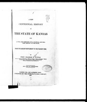 Cover of: A new centennial history of the State of Kansas
