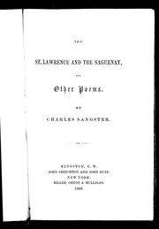 Cover of: The St. Lawrence and the Saguenay