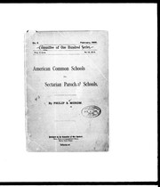 Cover of: American common schools vs. secterian parochial schools
