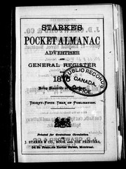Starkes pocket almanac, advertiser and general register for 1876