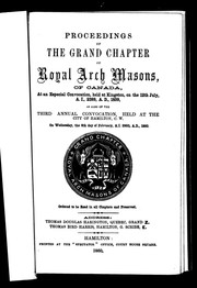 Cover of: Proceedings of the Grand Chapter of Royal Arch Masons of Canada | Royal Arch Masons. Grand Chapter (Canada)